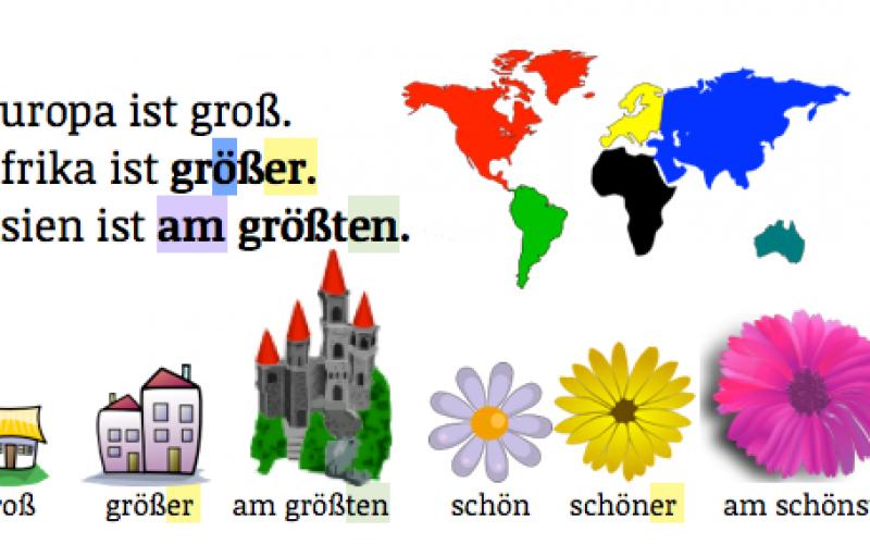 Ngữ pháp tiếng Đức: So sánh
