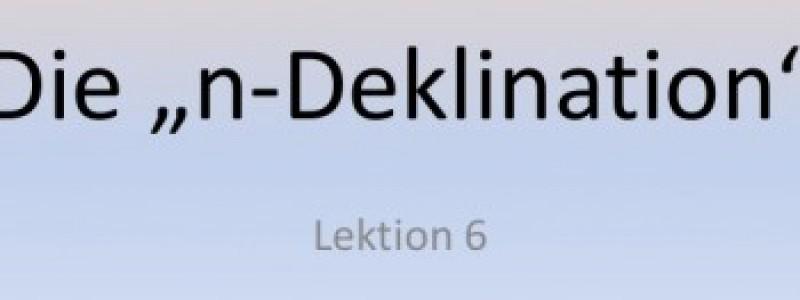 Ngữ pháp tiếng Đức: N-Deklination
